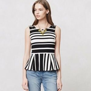 Anthropologie Postmark Antonia Peplum Blouse